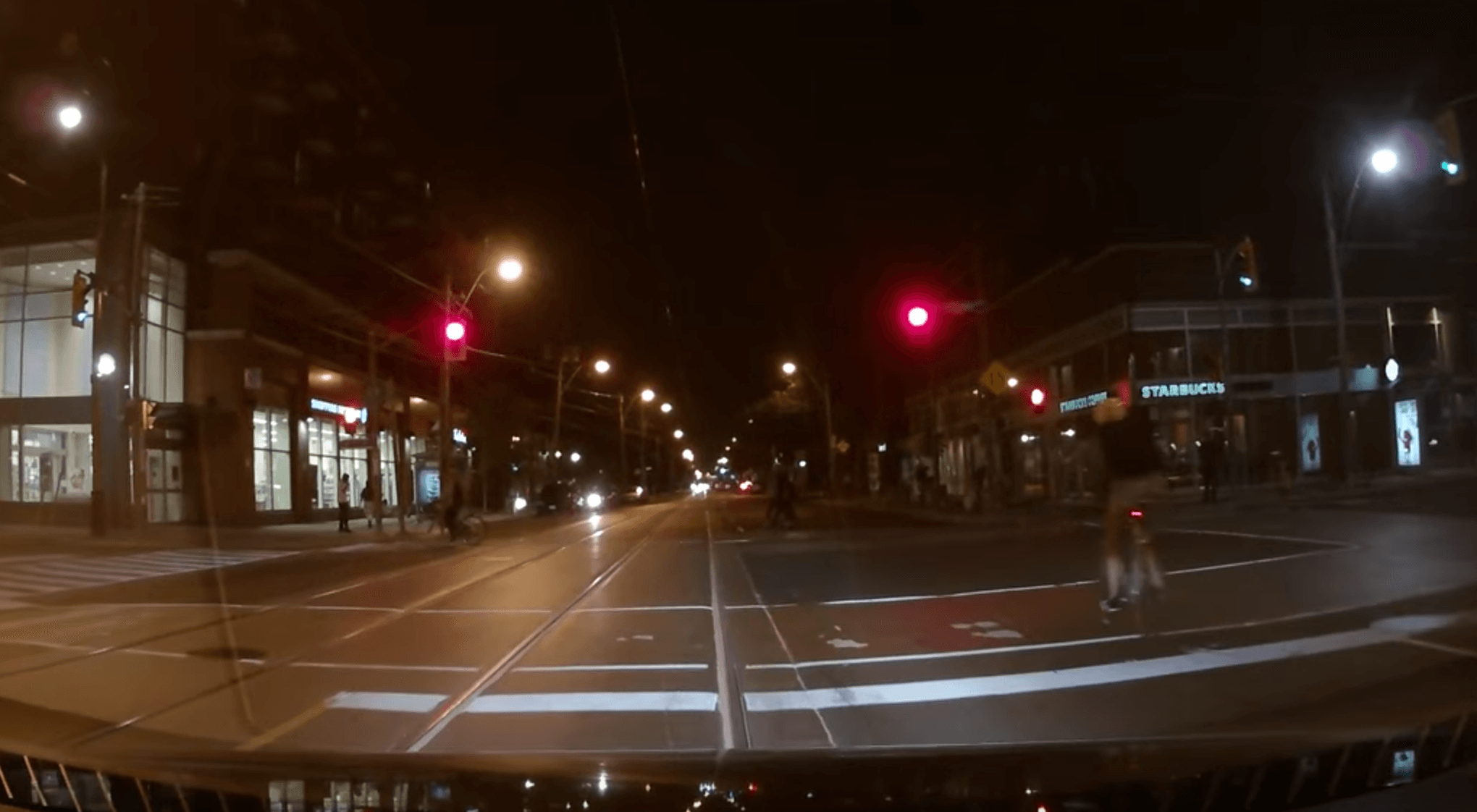 Toronto cyclist receives instant karma when running a red light (VIDEO)