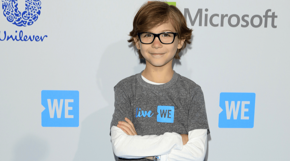 Jacob Tremblay at the WE Day California 2016 at the The Forum on April 7, 2016 in Inglewood, CA