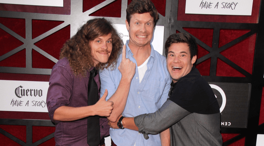Blake Anderson, Anders Holm, Adam DeVine at the Comedy Central Roast Of James Franco at the Culver Studios on August 25, 2013 in Culver City, CA