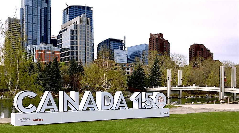 Prince's Island Park has a big 'Canada 150' sign perfect for Instagram (PHOTOS)