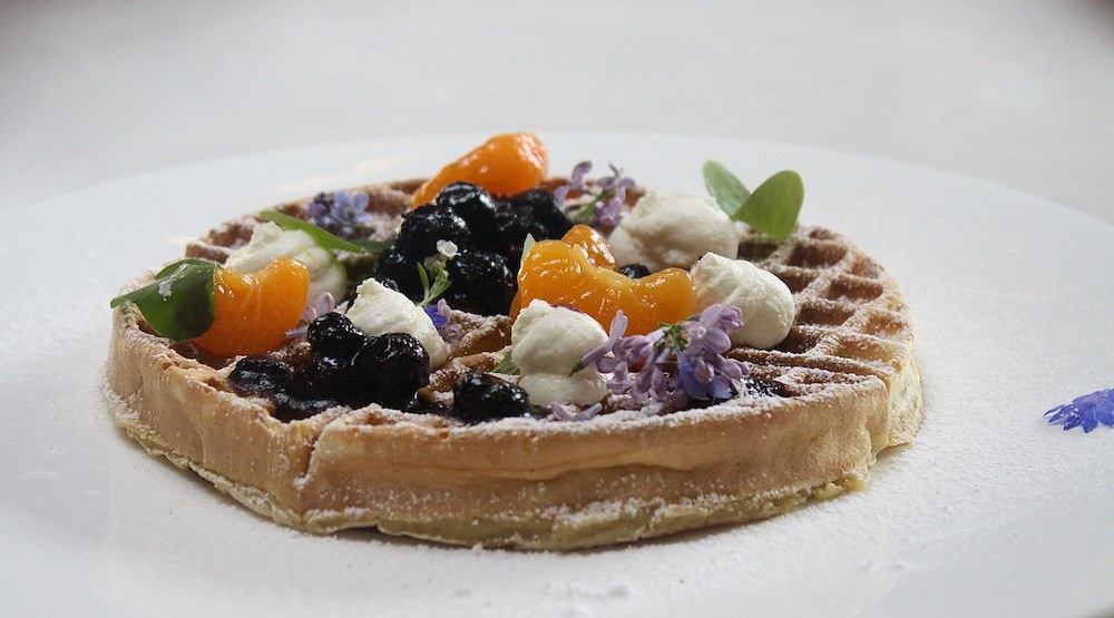 You'll find a waffle almost too pretty to eat and killer cocktails at West's brunch