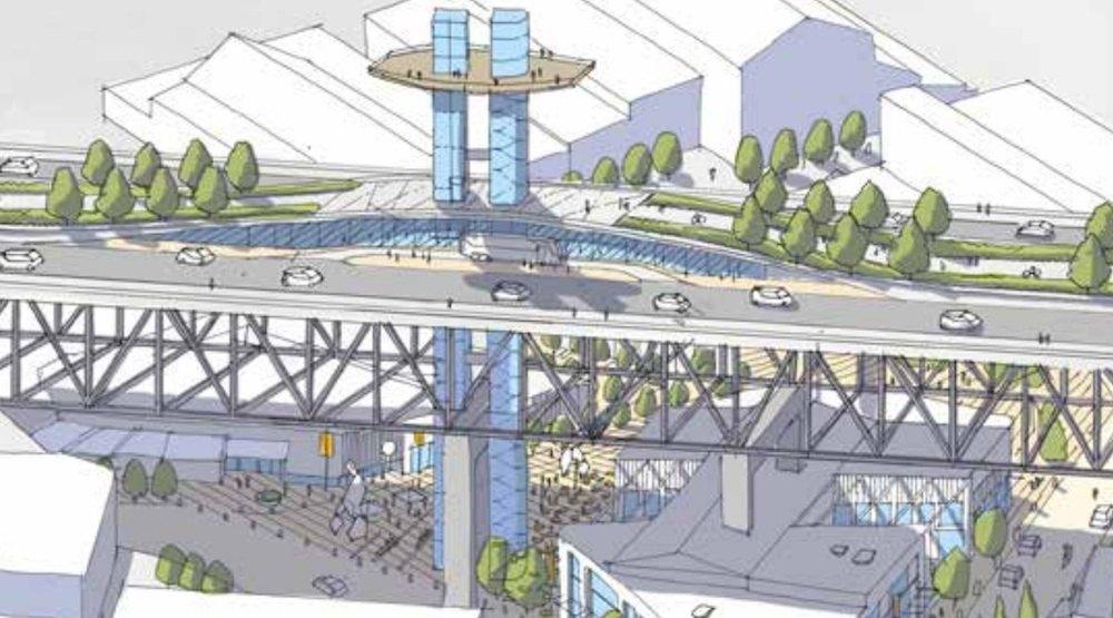 granville island redevelopment plan includes bridge elevator public spaces and market. Black Bedroom Furniture Sets. Home Design Ideas
