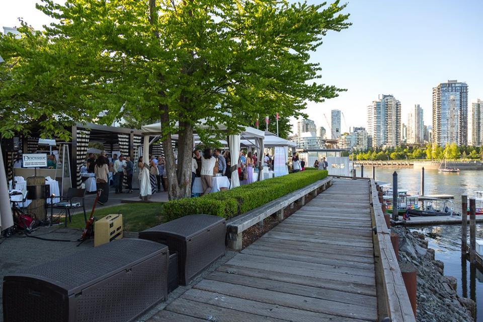 Dockside patio