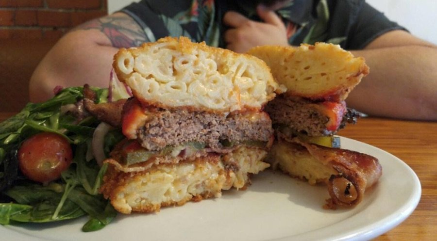 You can get a burger with mac and cheese buns at this Gastown diner