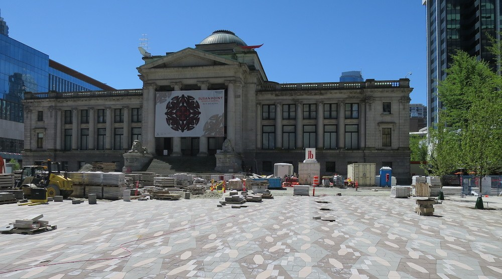 Vancouver art gallery plaza construction 3