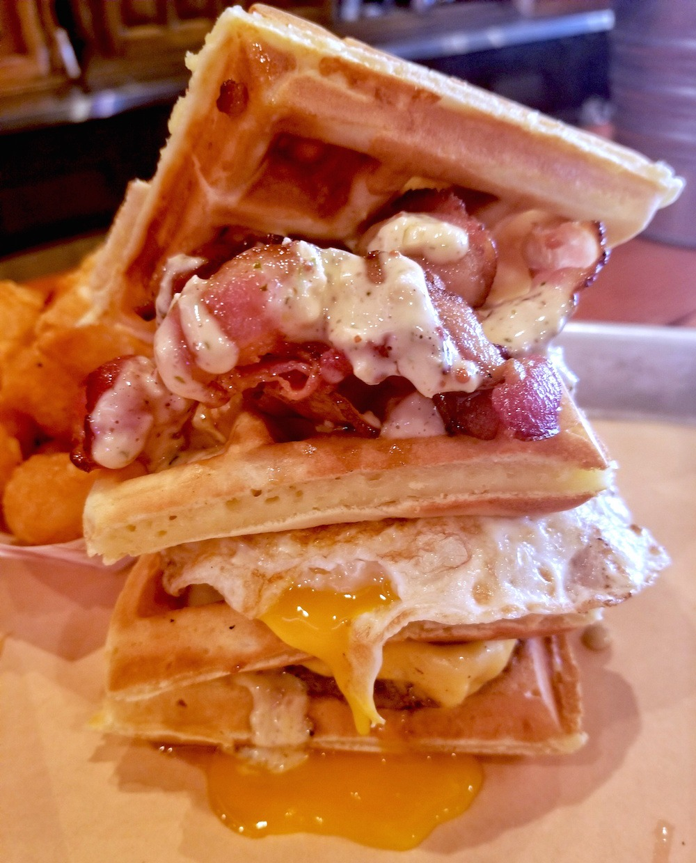 Breakfast Club Burger Dixies BBQ Vancouver