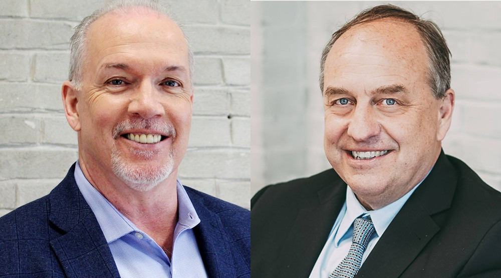 BC NDP leader John Horgan and BC Greens leader Andrew Weaver at Daily Hive (Daily Hive)