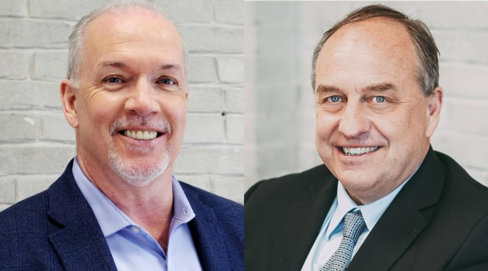 BC NDP leader John Horgan and BC Greens leader Andrew Weaver at Daily Hive (Daily Hive)