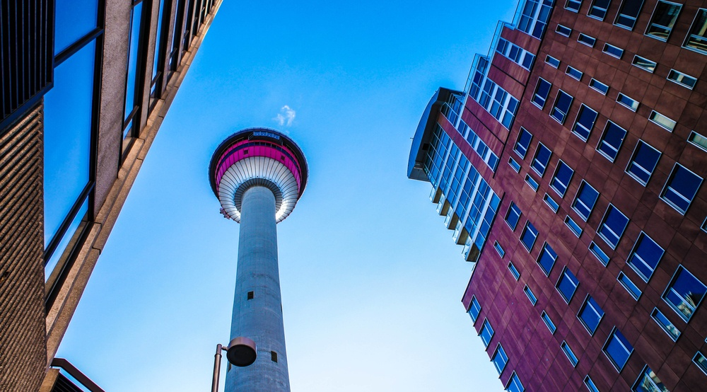 Calgary tower from below shutterstock