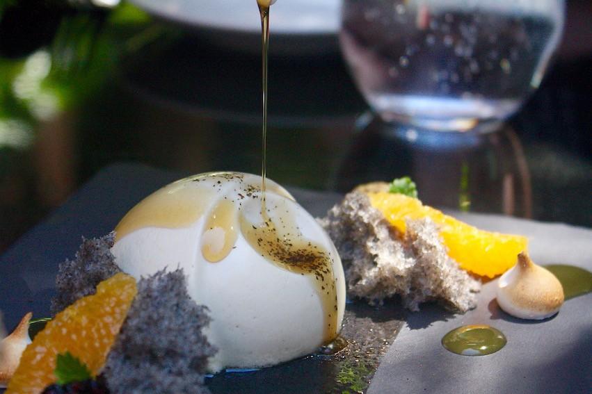 Minami Spring Menu_Hojicha Mousse with spiced orange ice cream
