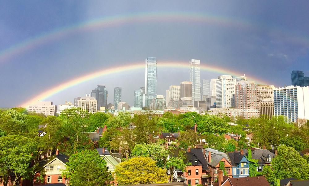 23 colourful photos of the double rainbow over toronto