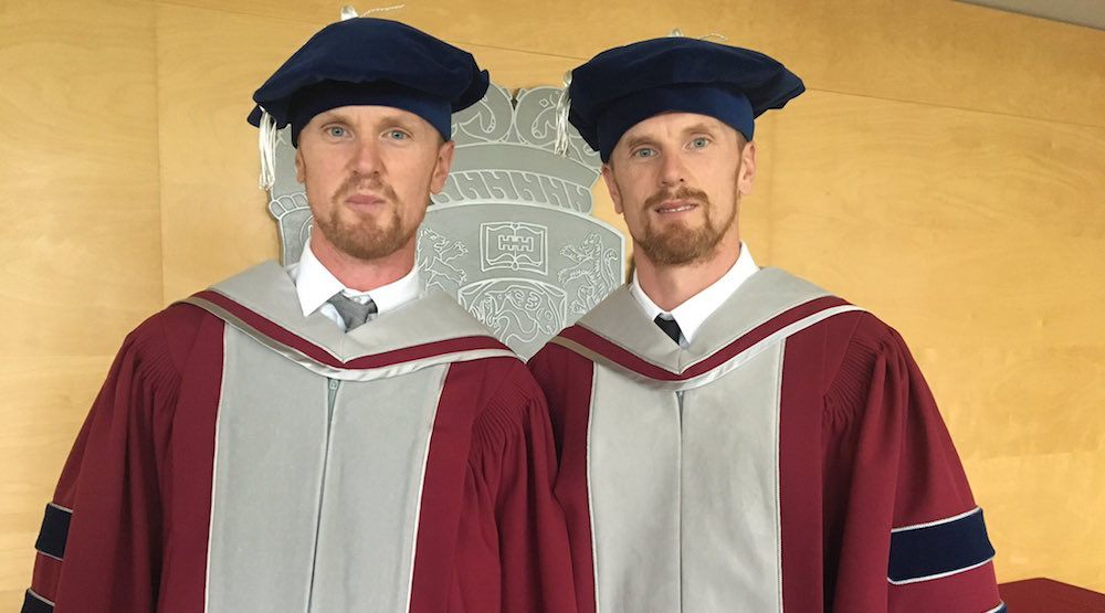 Sedins receive honourary degrees from Kwantlen Polytechnic University
