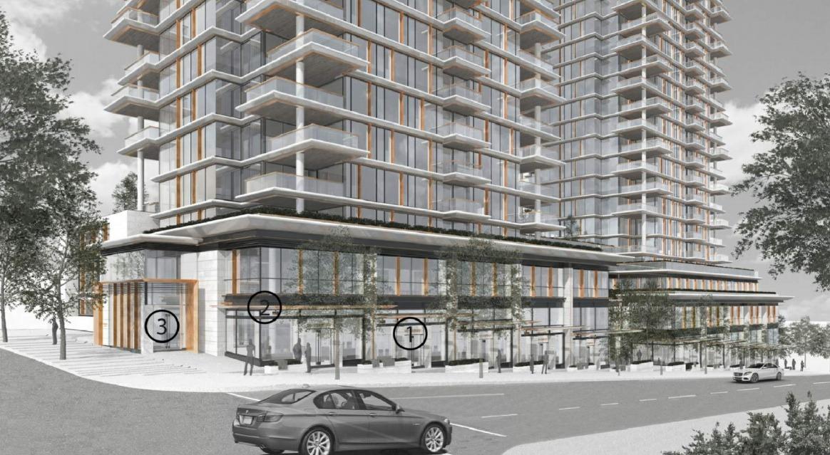 1488 Robson Street Vancouver Rendering