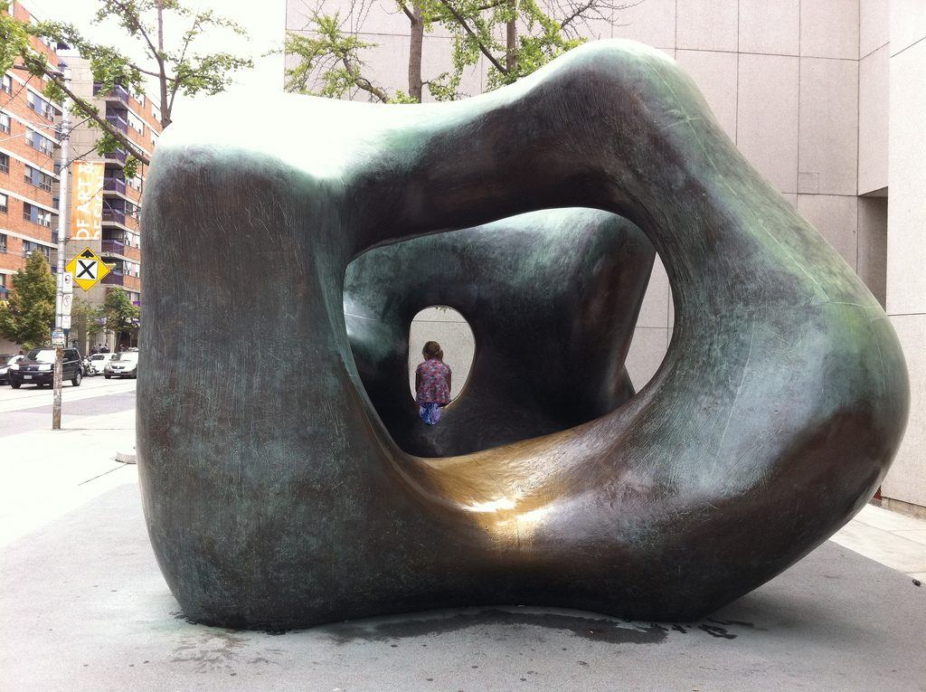 Large Two Forms, Henry Moore sculpture
