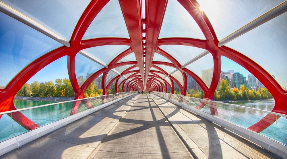 Peace bridge calgary shutterstock