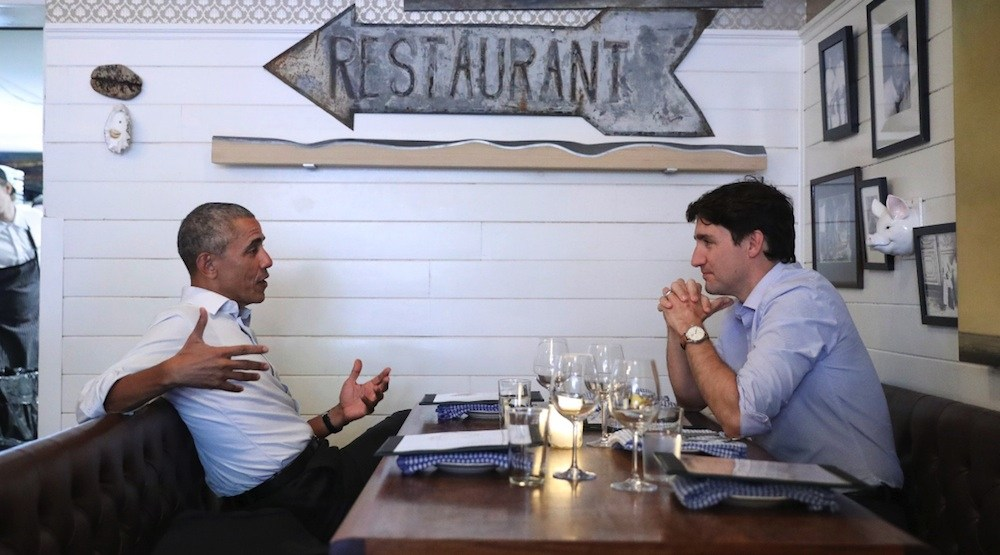 Trudeau and Obama reignite bromance with private dinner in Montreal