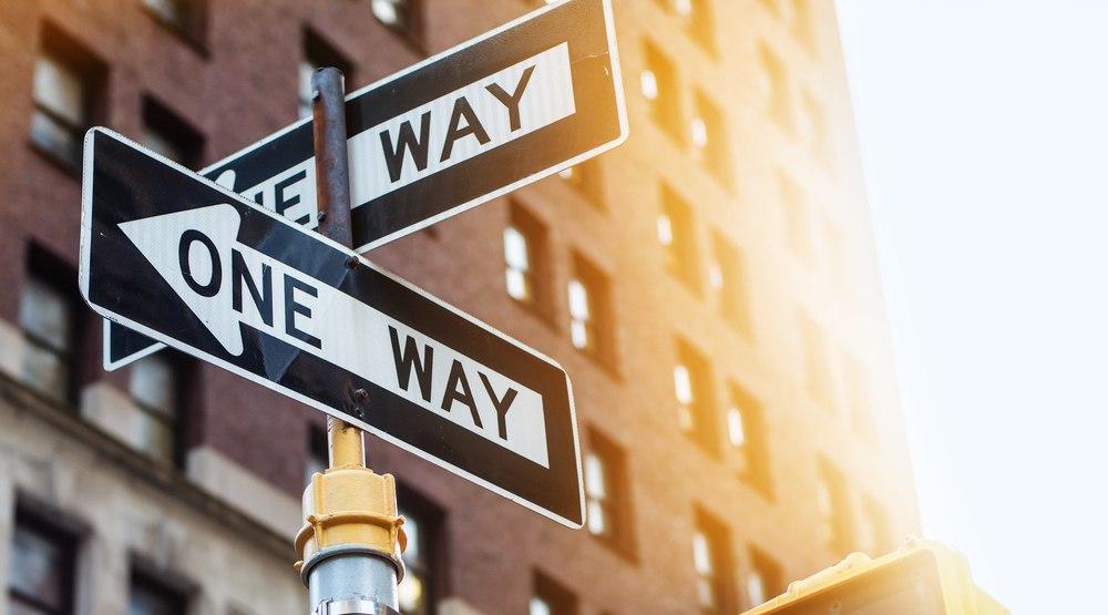 One way traffic shutterstock