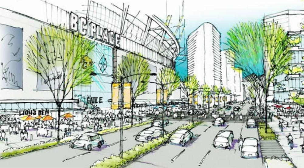 Bc place stadium new entrance pacific boulevard