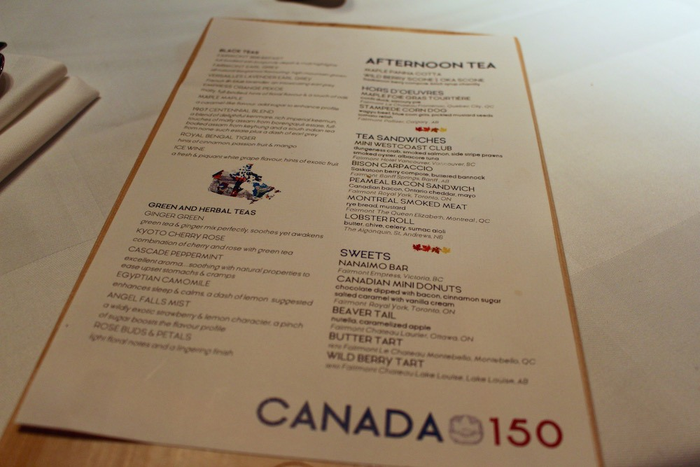 Canada 150 Afternoon Tea Fairmont Hotel Vancouver