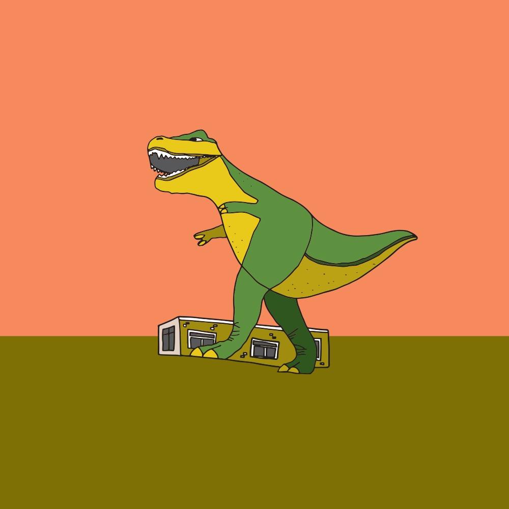 Giant T-Rex in Drumheller, Alberta (Jag Nagra)