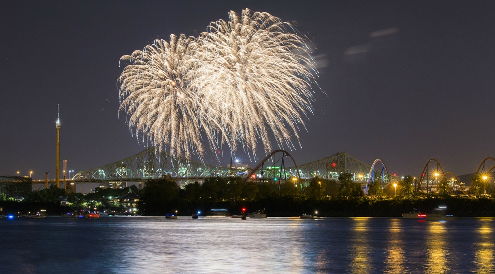 An insane Canada Day fireworks show is happening in Old Port