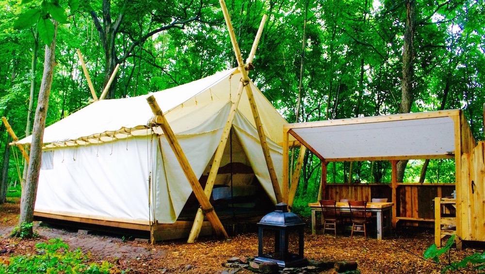 Tent with en suite sized