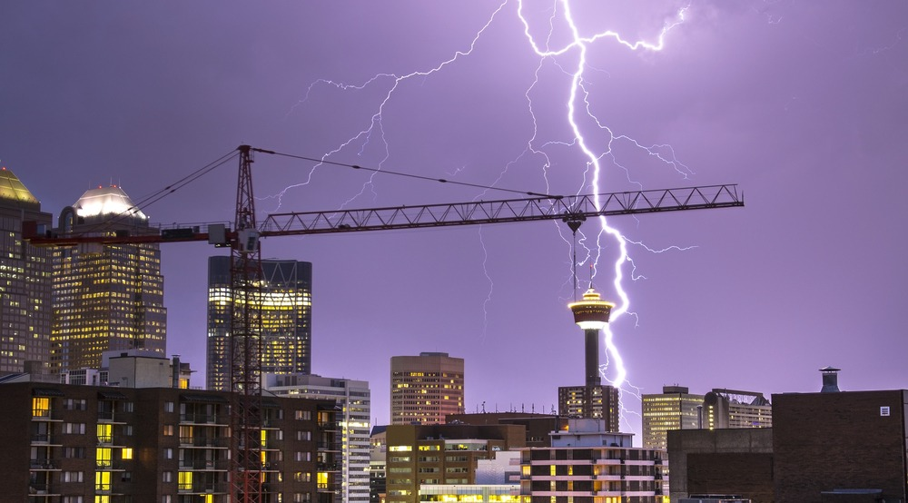 Calgary has officially fallen under a severe thunderstorm watch