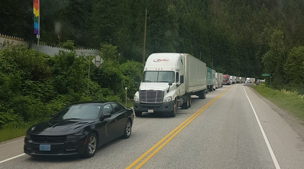 Highway 1 in southeastern BC closed until Sunday due to washout