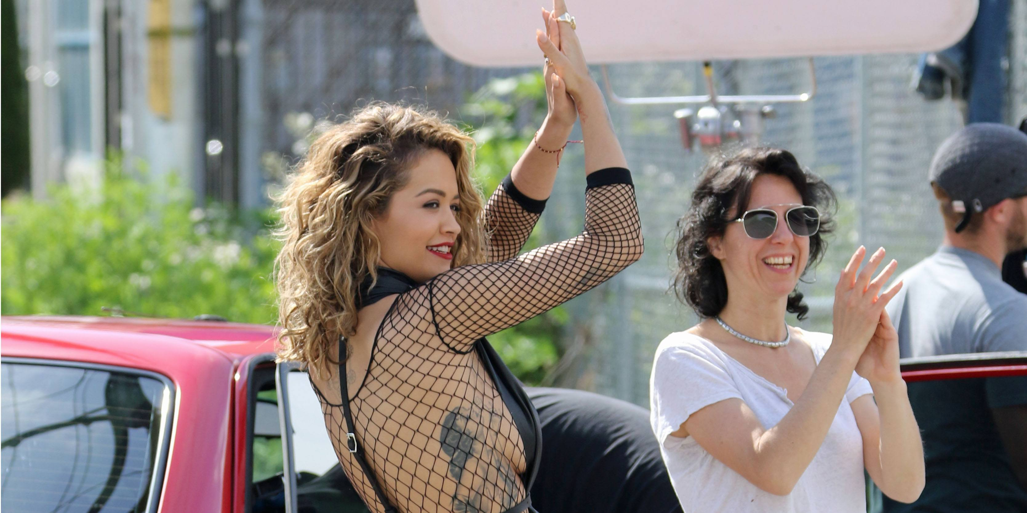"Rita Ora films music video for ""Your Song"" in Vancouver (PHOTOS)"