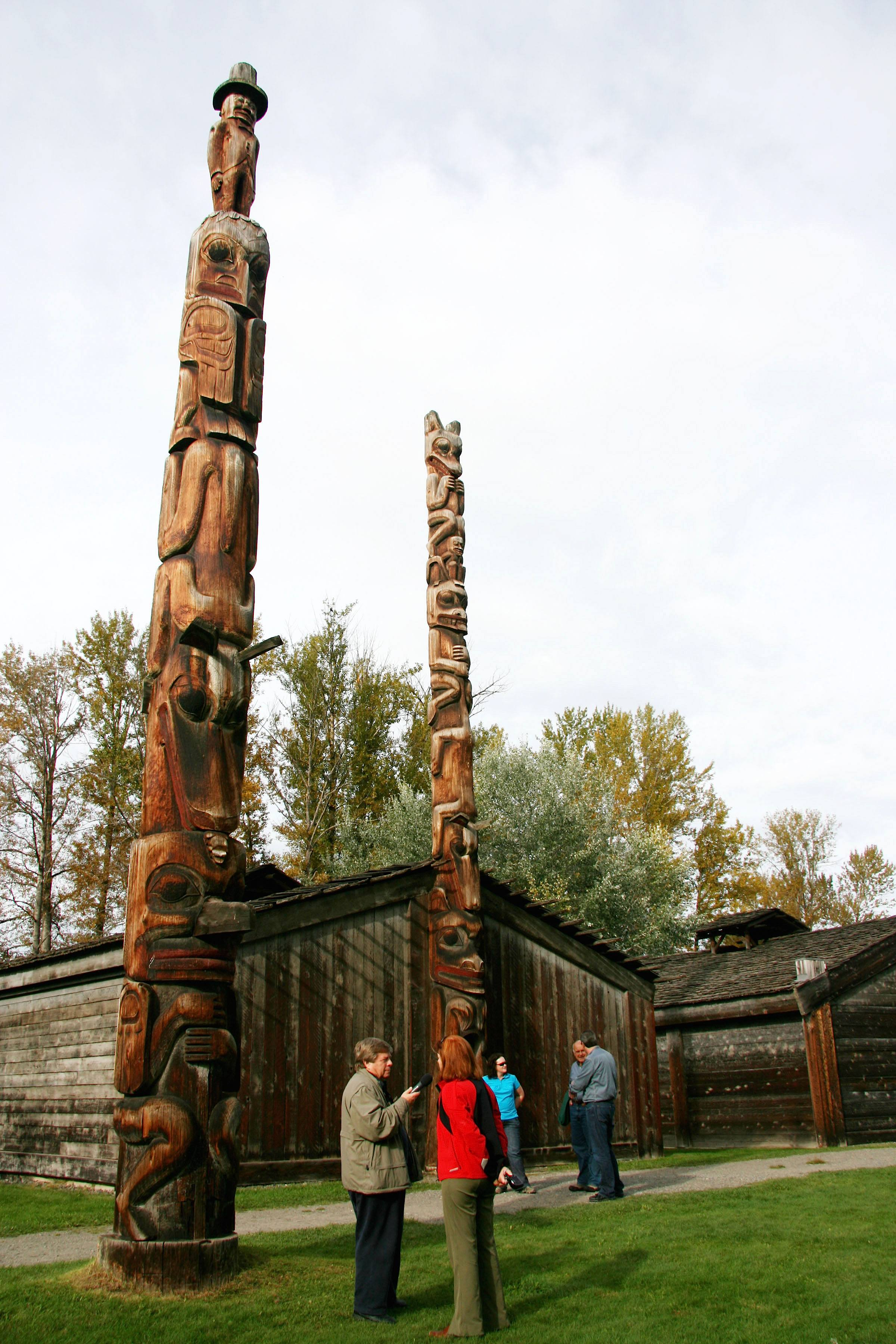 Ksan-historical-village-totem-poles