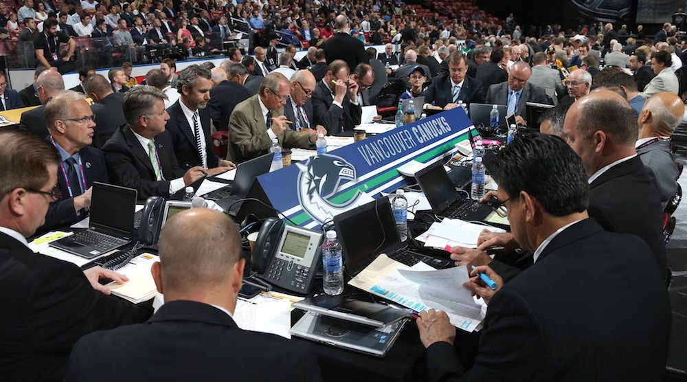 Canucks draft table