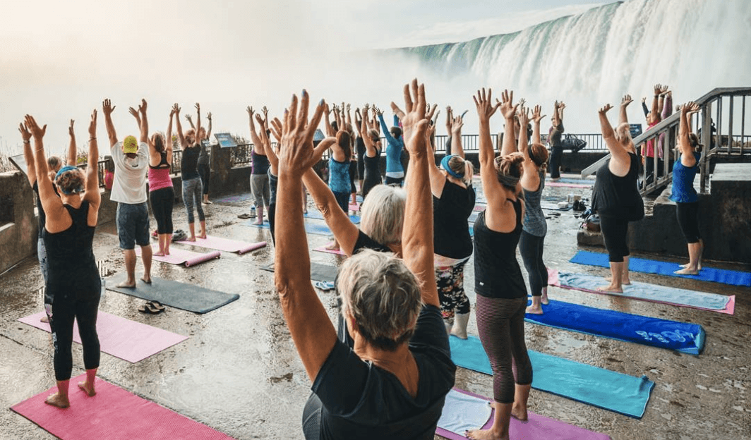 You can do yoga beside Niagara Falls this summer