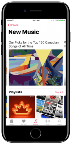 Apple Music celebrates Canada 150 by releasing the top 150 Canadian songs of all time (Apple Music)
