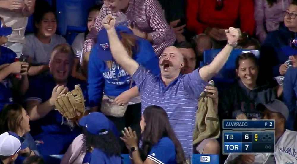 Who is this mysterious, moustachioed Blue Jays fan?