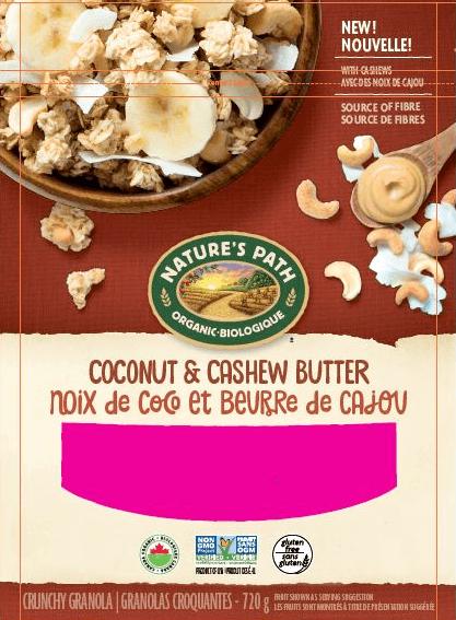 Nature's Path_Coconut & Cashew Butter Crunchy Granola