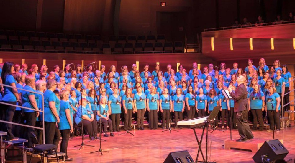 A massive rock and pop choir is singing for Canada's 150th