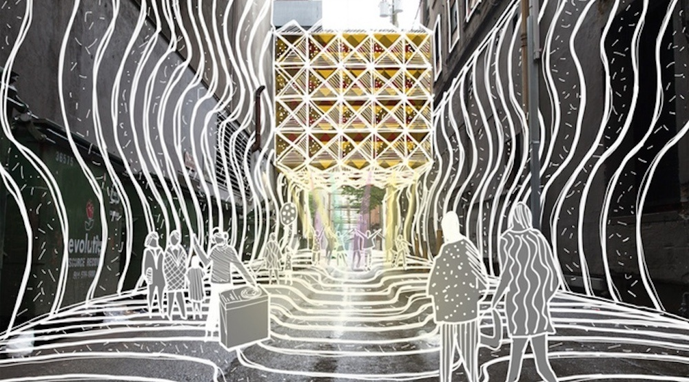 Downtown Vancouver's Orpheum Theatre laneway is getting a 'psychedelic' makeover