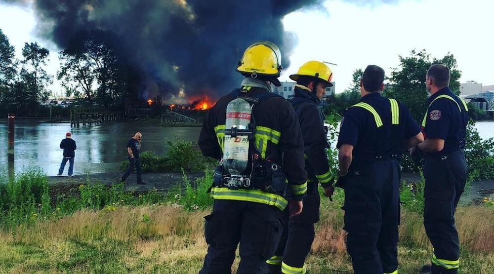Richmond fire mitchell island
