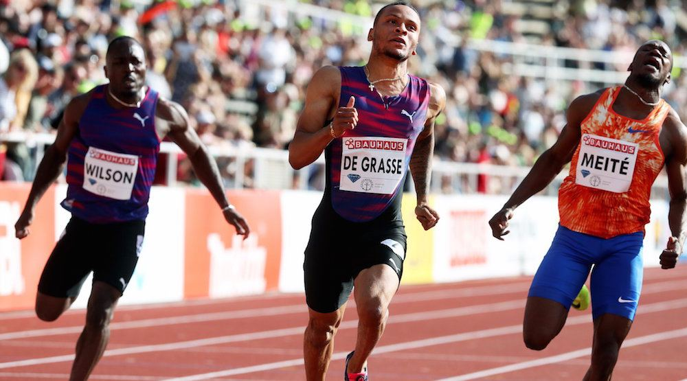 Andre De Grasse runs fastest 100 metres of his life in Stockholm