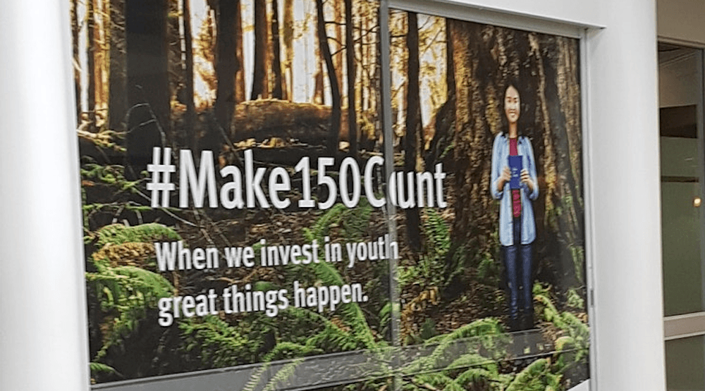 Spotted on Reddit: The most unfortunate Canada 150 ad placement you'll see today