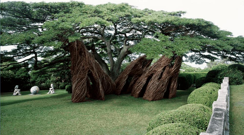 13 photos of the Montreal Botanical Garden's new willow branch exhibit