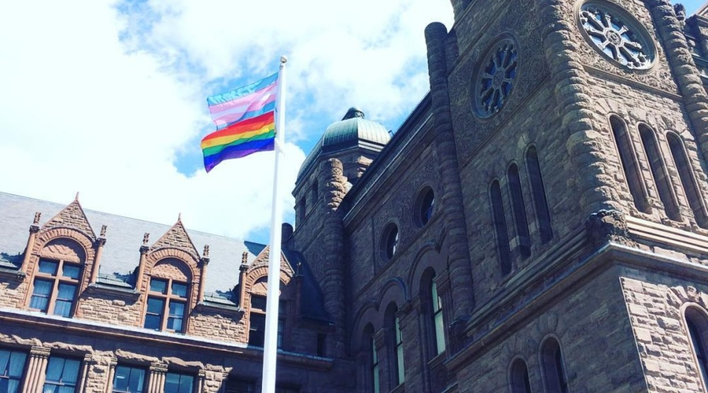Queen's Park raises trans flag for first time ever