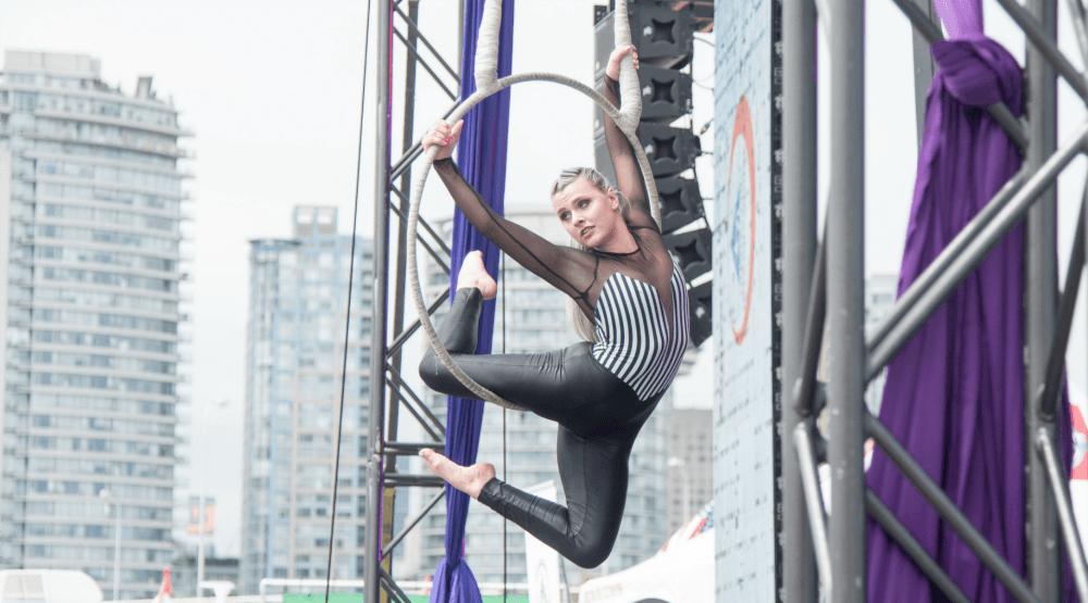 Circus performerdragon boat festival