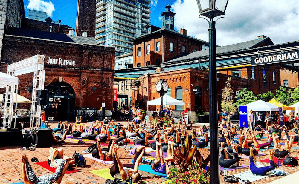 There's a huge yoga festival in the Distillery District this Sunday (PHOTOS)
