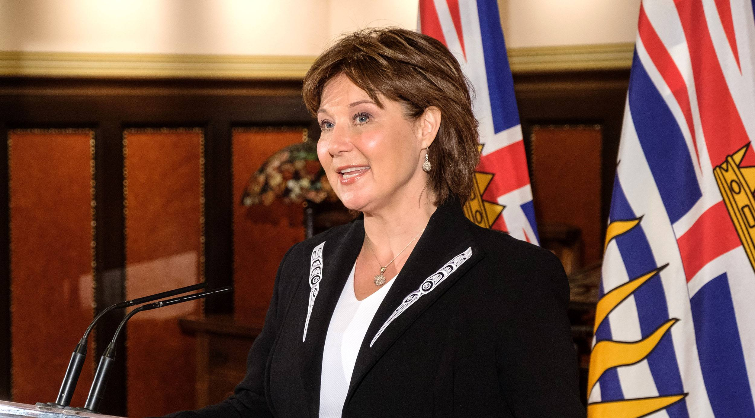 BC Premier Christy Clark after she and her Executive Council were formally sworn in by Lt.-Gov. Judith Guichon on June 12, 2017. (Province of BC/Flickr)