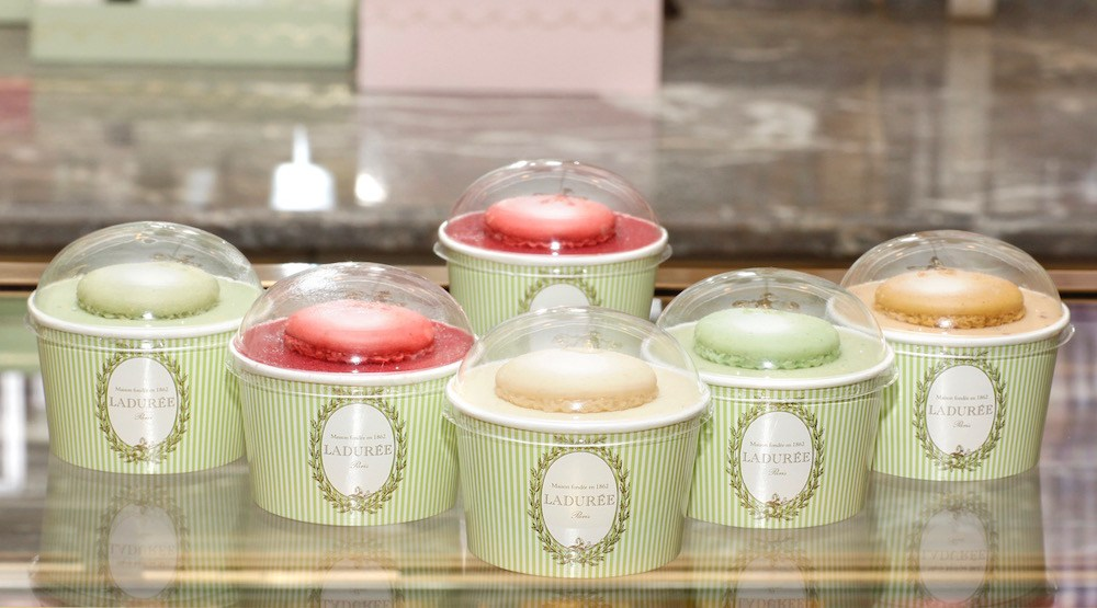 You can now get ice cream cups to-go from Ladurée Vancouver