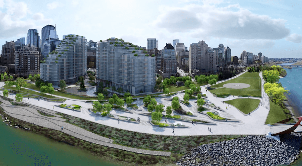 Catch a virtual glimpse of Calgary's new West Eau Claire Park this weekend