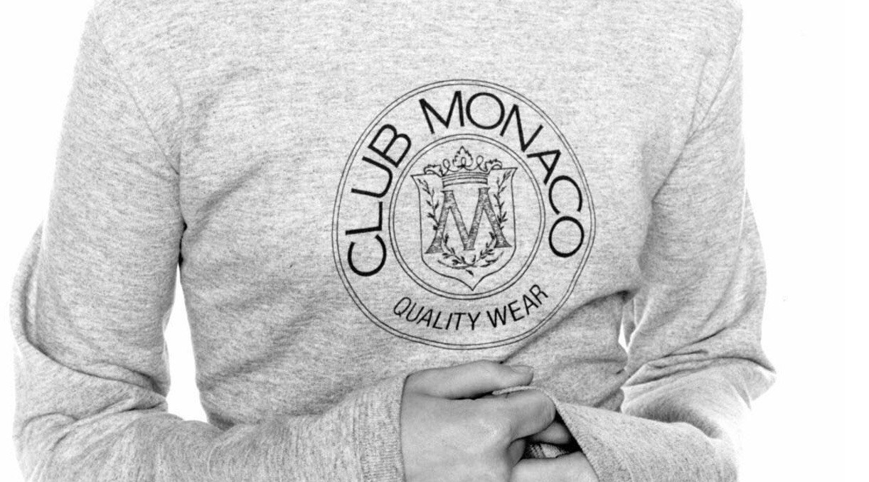 Club Monaco is bringing back its crest sweater, but only for a limited time