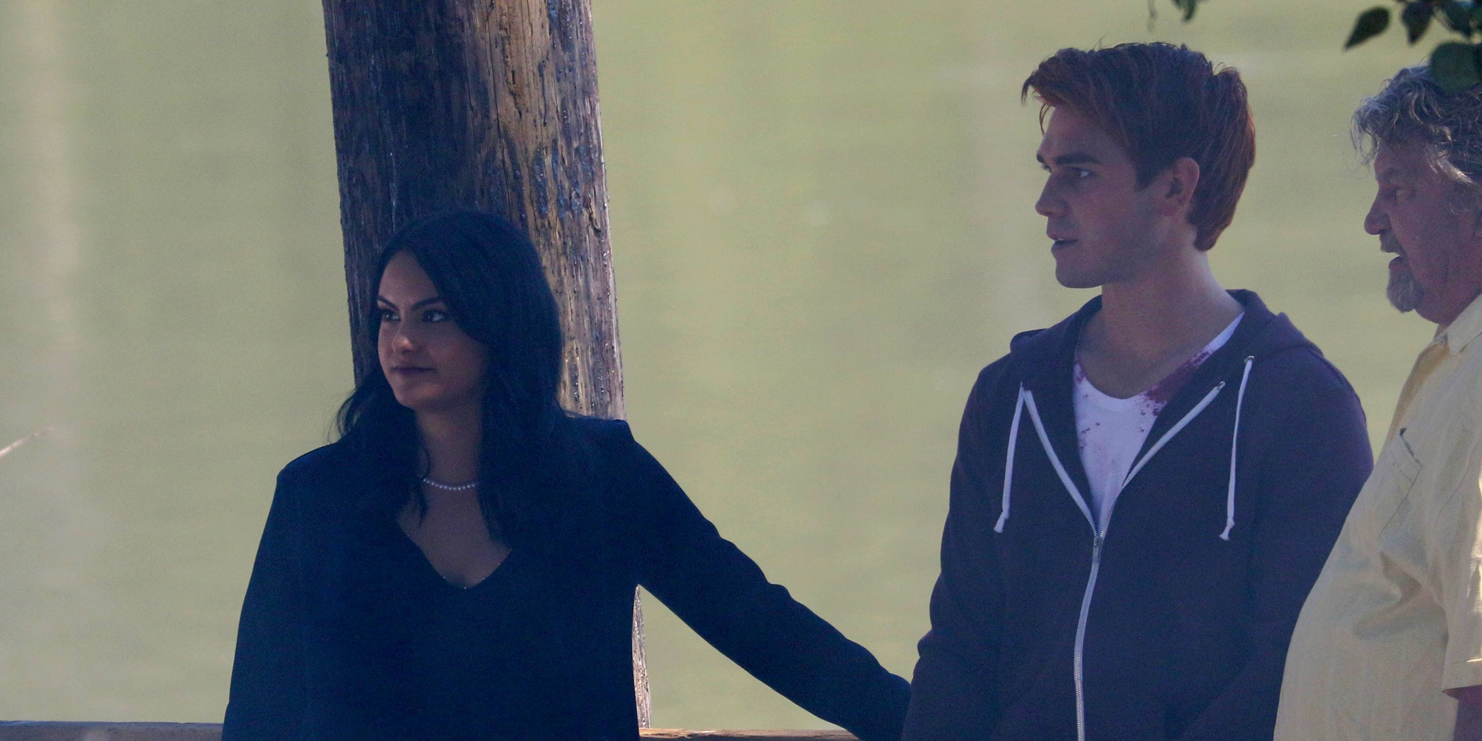 KJ Apa and Camila Mendes shoot 'Riverdale' season 2 in Fort Langley (PHOTOS)