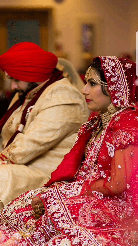 Despite the challenges, the couple tied the knot. (Rani Gill)